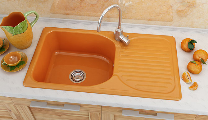 Fat Композитна Sink with left/right drainer 211 от серия Classic