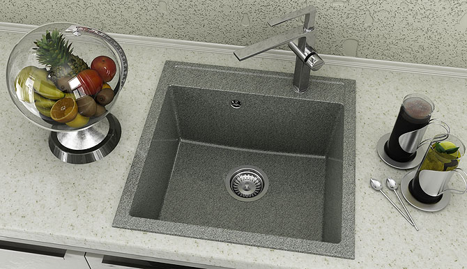 Fat Композитна One bowl sink 225 от серия Avantgard