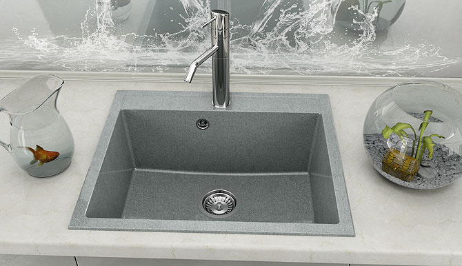 Fat Композитна One bowl sink 227 от серия Avantgard